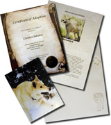 Adopt a Wolf sample package